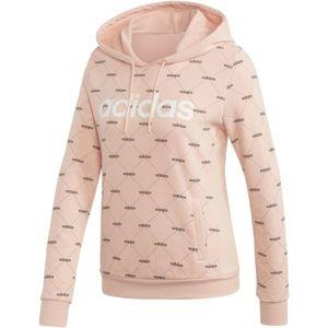 adidas CORE FAVOURITES HOODY světle růžová L - Dámská mikina