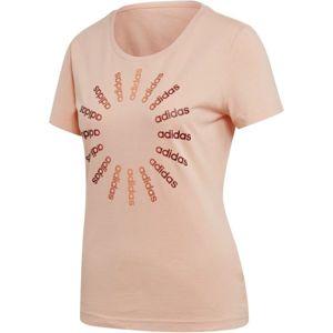 adidas CRCLD T 1 růžová M - Dámské tričko
