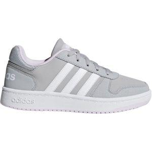 adidas HOOPS 2.0 K šedá 5.5 - Dětské volnočasové boty