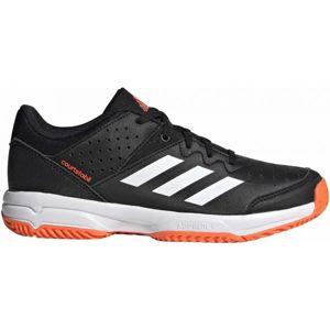 adidas COURT STABIL JR černá 6 - Dětská házenkářská obuv