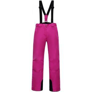 ALPINE PRO DITELA růžová M - Dámské kalhoty