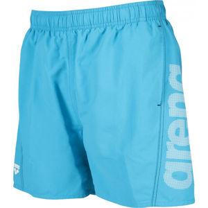 Arena M FUNDAMENTALS LOGO BOXER modrá L - Pánské koupací šortky