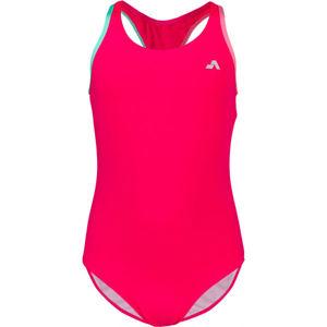 Aress MERMAID růžová 152-158 - Dívčí jednodílné plavky