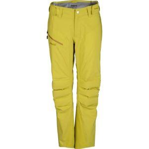 Bergans HEMSEDAL HYBRID LADY PNT žlutá L - Dámské lyžařské kalhoty