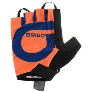 Briko GRANFONDO 5R0 oranžová L - Cyklistické rukavice