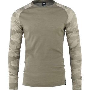 Bula CAMO MERINO WOOL CREW  M - Pánské triko