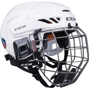 CCM FITLITE 90 COMBO SR bílá (57 - 62) - Hokejová helma