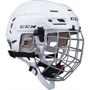 CCM TACKS 110 COMBO SR bílá (55 - 59) - Hokejová helma