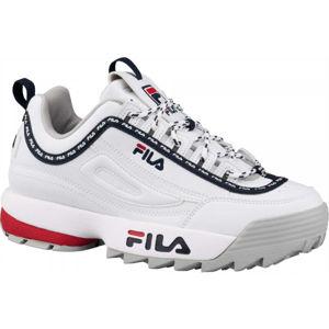 Fila DISRUPTOR LOGO LOW WMN bílá 5.5 - Dámská volnočasová obuv