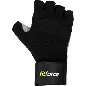 Fitforce FITNESS RUKAVICE šedá L - Rukavice na fitness