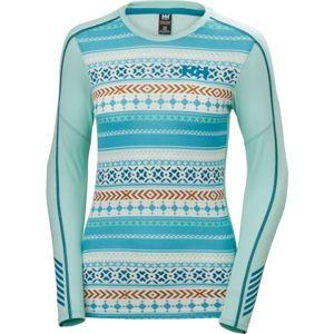 Helly Hansen LIFA ACTIVE GRAPHIC CREW modrá XS - Dámské triko s dlouhým rukávem