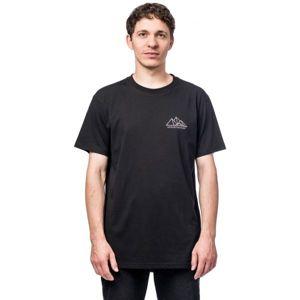 Horsefeathers PEAKS SS T-SHIRT černá XL - Pánské tričko