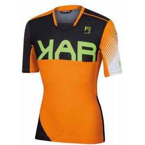 Karpos VERVE oranžová 2XL - Pánský cyklistický dres