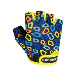 Klimatex KOTTE tmavě modrá 6 - Dětské cyklistické rukavice