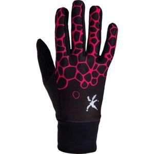 Klimatex LUMI černá L - Dámské strečová prstové rukavice