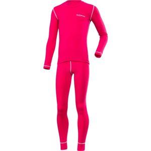 Klimatex ROKI růžová 134 - Set dětského funkčního prádla