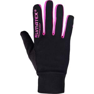 Klimatex SANYOT růžová L - Strečové prstové rukavice