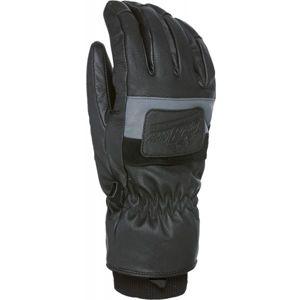Level EMPIRE černá XL - Pánské celokožené rukavice