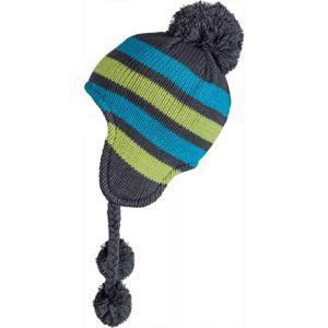 Lewro ADAM modrá 8-11 - Dětská pletená čepice