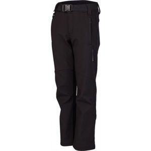 Lewro DALEX černá 164-170 - Dětské softshellové kalhoty