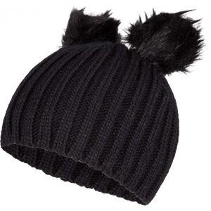 Lewro LILIEN černá 12-15 - Dívčí pletená čepice