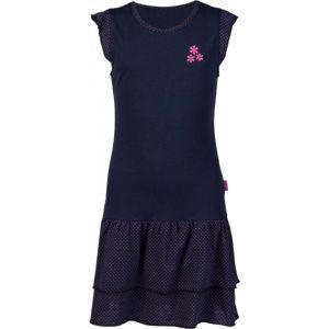 Lewro MARLA tmavě modrá 140-146 - Dívčí šaty s volány