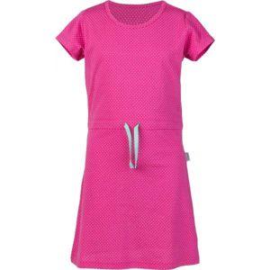 Lewro MARSHA růžová 152-158 - Dívčí šaty