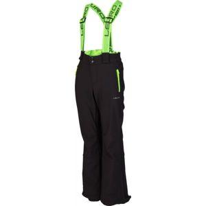 Lewro NUKA zelená 152-158 - Dětské lyžařské kalhoty