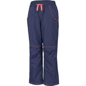 Lewro SIGI oranžová 140-146 - Dětské zateplené kalhoty