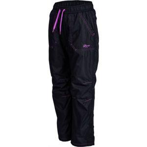 Lewro LEI fialová 116-122 - Dětské zateplené kalhoty