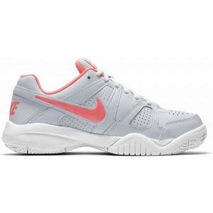 Nike CITY COURT 7 GS šedá 6 - Dětská sálová obuv