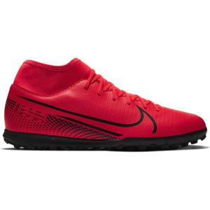 Nike MERCURIAL SUPERFLY 7 CLUB TF červená 10.5 - Pánské turfy