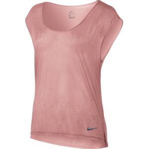 Nike BRTHE TOP SS COOL W růžová S - Dámský běžecký top