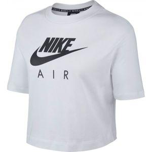Nike NSW AIR TOP SS bílá M - Dámské tričko