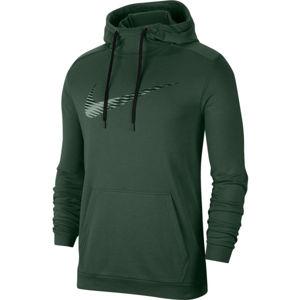 Nike DRY HOODIE PO SWOOSH M tmavě zelená L - Pánská mikina