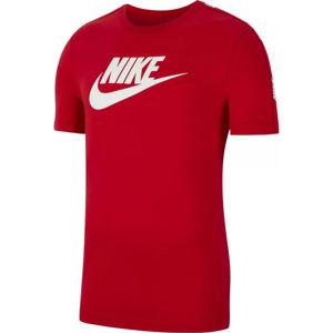 Nike NSW HYBRID SS TEE M červená XL - Pánské tričko