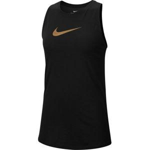 Nike DRY TANK SLUB ICON CLA W černá M - Dámské tréninkové tílko
