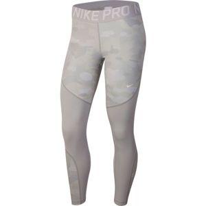 Nike NP REBEL TIGHT 7/8 CAMO šedá M - Dámské legíny