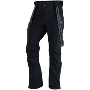 Northfinder LUX černá S - Pánské softshelllové kalhoty na lyže
