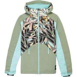 O'Neill PG ALLURE JACKET zelená 128 - Dívčí lyžařská/snowboardová bunda