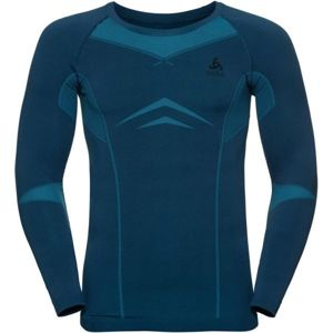Odlo SUW MEN'S TOP L/S CREW NECK PERFORMANCE EVOLUTION WARM modrá M - Pánské triko