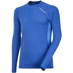 Progress SS ACTIVE LS M modrá L - Pánské funkční triko