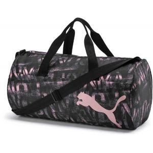 Puma AT ESS BARREL BAG růžová NS - Dámská sportovní taška