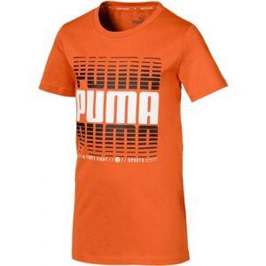 Puma ACTIVE SPORTS TEE B oranžová 140 - Chlapecké sportovní triko
