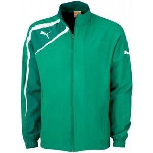 Puma SPIRIT WOVEN JACKET JR zelená 152 - Dětská sportovní bunda