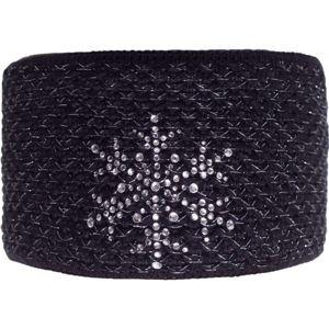R-JET FASHION EXCLUSIVE STŘÍBRNÝ LUREX černá UNI - Dámská pletená čelenka