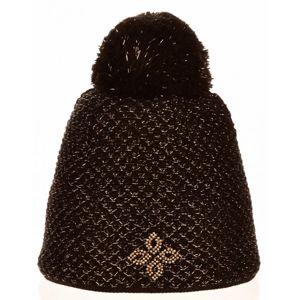 R-JET SPORT FASHION EXLUSIVE ZLATÝ LUREX černá UNI - Dámská pletená čepice