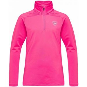 Rossignol GIRL 1/2 ZIP WARM STRETCH růžová 12 - Juniorský rolák