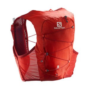Salomon ACTIVE SKIN 8 SET RED  M - Běžecká vesta