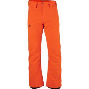 Salomon STORMRACE PANT M oranžová S - Pánské lyžařské kalhoty